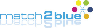 match2blue Logo