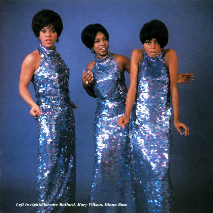 Diana Ross Supremes blue sequenced gowns